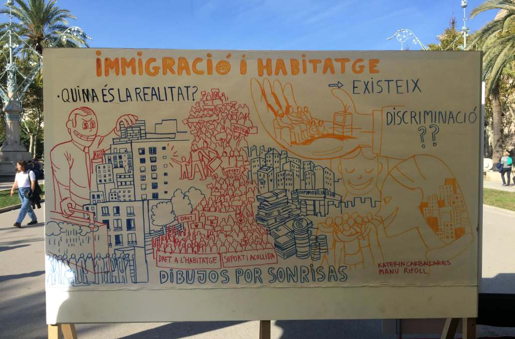 """Resumen gráfico del encuentro """"BCN Ciutat Diversa"""""""